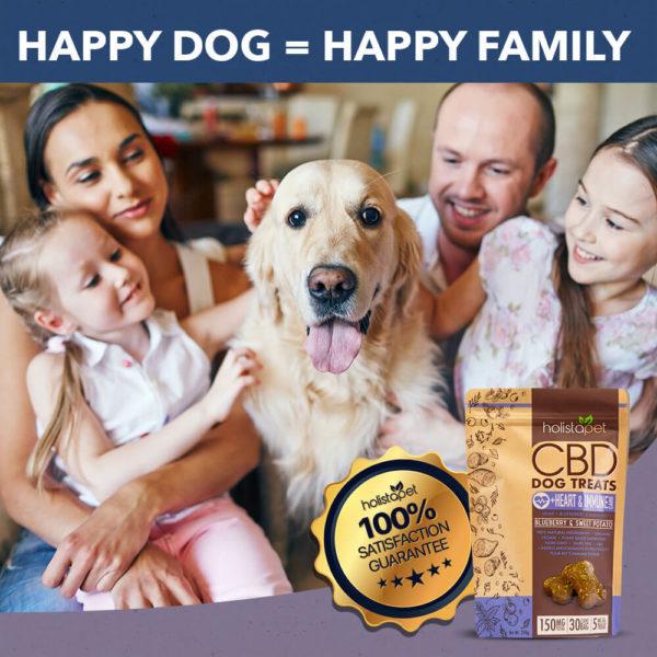 holistapet dog treats cbd bag of treats happy family