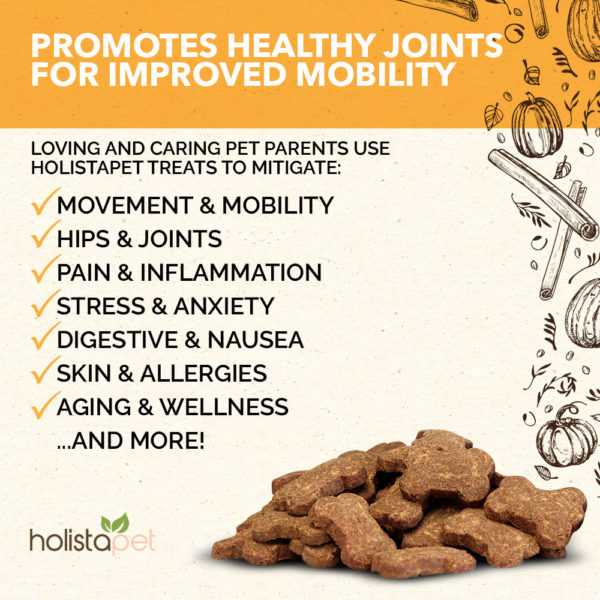 cbd holistapet joint and mobility dog treats helps treat and mitigate hips inflammation and more