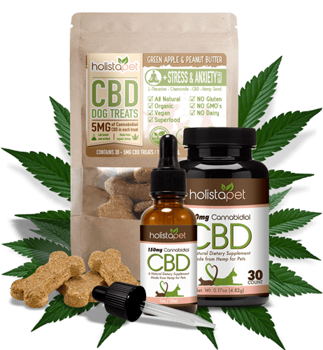 HolistaPet CBD oil for dogs, tinctures, capsules, CBD dog treats