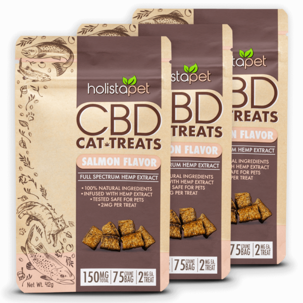 Holistapet Bundle 3 bags of CBD cat treats