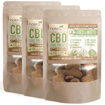 Bundle & Save: 3 CBD Dog Treats +Stress & Anxiety Relief