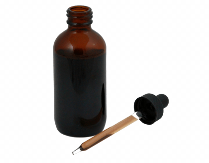 tincture bottla and dropper