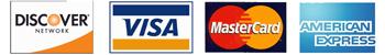 Visa MasterCard Discovery Amex logo