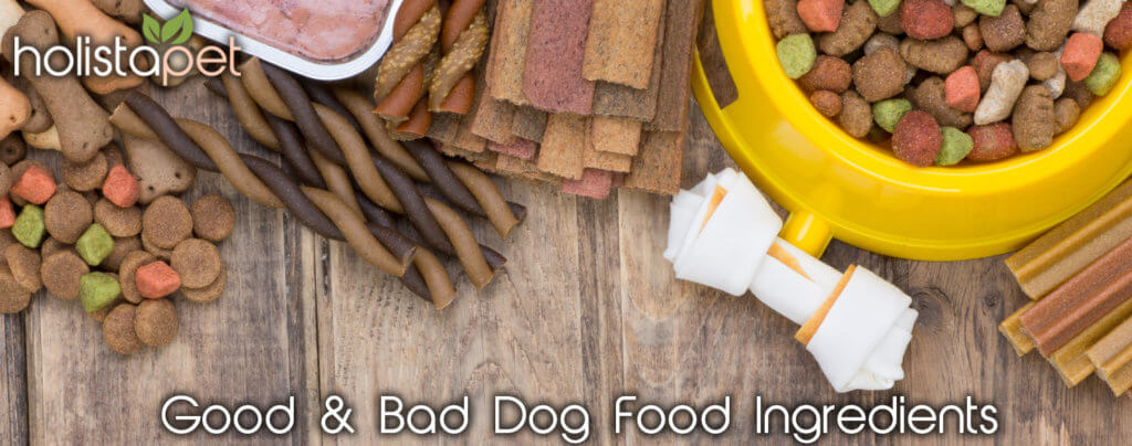 good and bad dog food ingredients banner