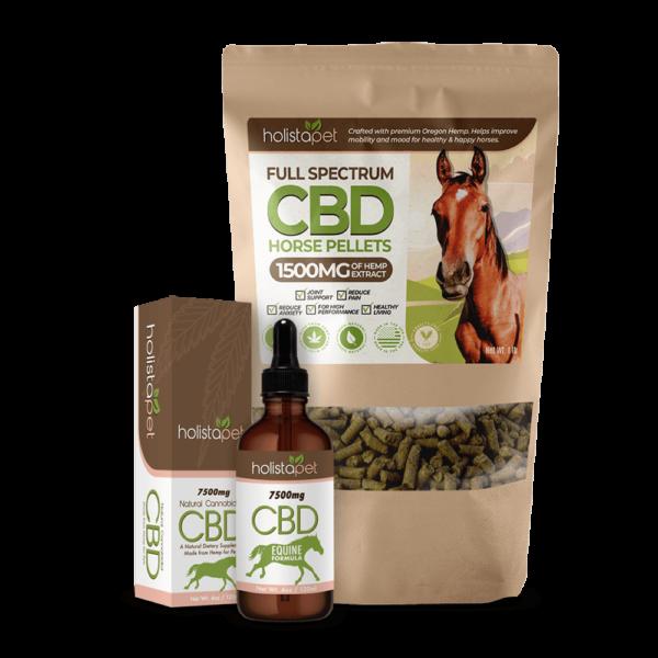 CBD oil and pellet horse bundle