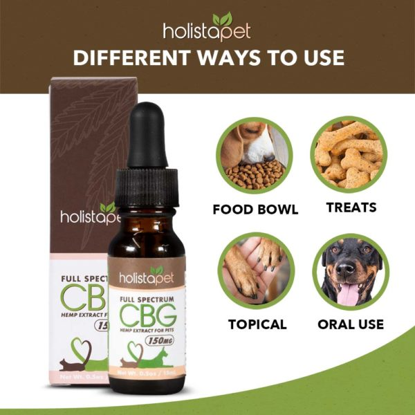 different ways to use CBG for your pets food bowl treats topical oral use