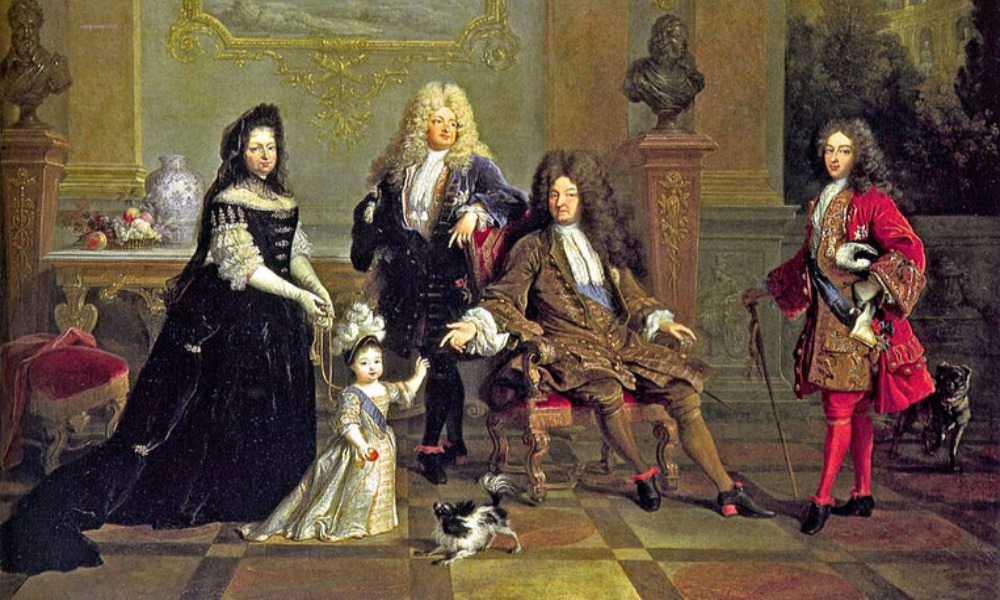 louis xiv of france and his dog